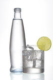Water with glass royalty free stock photos