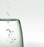 Water in a glass Royalty Free Stock Images