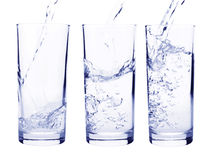 Water into glass Royalty Free Stock Photography