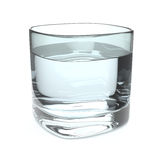 Water Glass. A glass of fresh water on white background Royalty Free Stock Photos