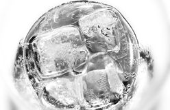Water glass. With ice cubes Royalty Free Stock Photography