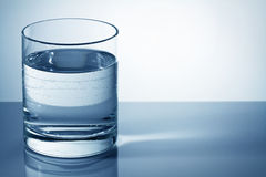 Water glass. With space for text Stock Images