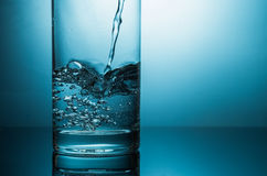 Water and glass stock photo