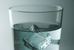 Water glass. Shallow focus royalty free stock images