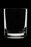 Water glass on black Stock Photography