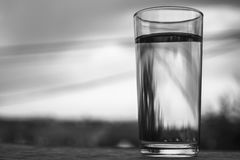 Water Glass BW Royalty Free Stock Photography