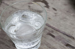Water in glass. Cool, ice Royalty Free Stock Image