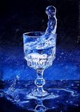 Water glass drawing Royalty Free Stock Images