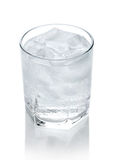 Water in a glass with ice Royalty Free Stock Photo