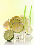 Water in the glass with ice cubes Stock Images