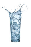 Water glass ice splash Stock Photography