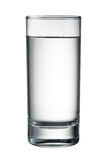 Water glass isolated on white. With clipping path Royalty Free Stock Images