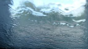 Water on the glass - 4K stock footage
