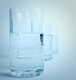 Water glass in line Stock Image