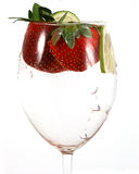 Water in a glass with lines an Stock Photo
