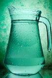 Water in a glass pitcher Royalty Free Stock Photo