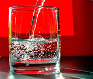 Water glass Stock Photography