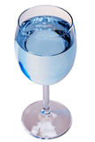 Water Glass with pure water. Wineglass filled with clear water on white background Royalty Free Stock Images