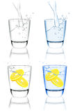 Water glass set Royalty Free Stock Photography