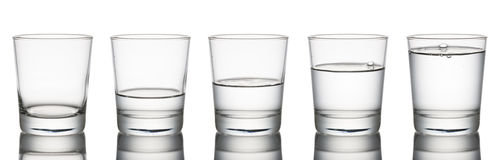 Water glass Royalty Free Stock Photo