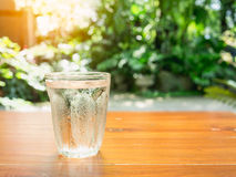 Water glass on the table Stock Photos