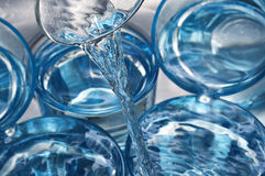 Water in a glasses Royalty Free Stock Photos