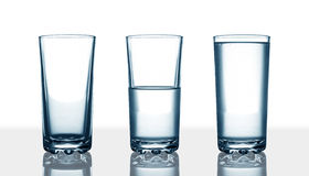 Water glasses Royalty Free Stock Images