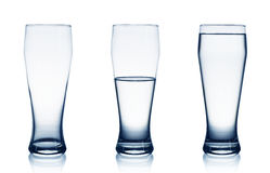 Water glasses Stock Images