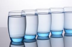 Water Glasses Stock Photos