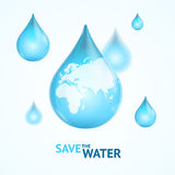 Water Globe Save Concept. Vector Stock Images