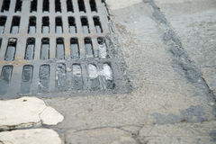Water go down to the drain Royalty Free Stock Photos