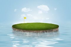 Water Golf Green Royalty Free Stock Images