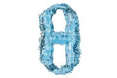 Water Greek letter theta, 3D rendering Royalty Free Stock Photo
