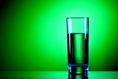 Water on green Royalty Free Stock Image