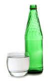 Water in green bottle Stock Images