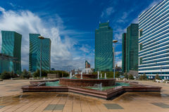 Water Green Boulevard in Astana Royalty Free Stock Images