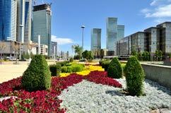 Water Green Boulevard in Astana Stock Photos