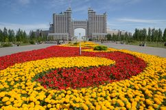 Water Green Boulevard in Astana Royalty Free Stock Photos