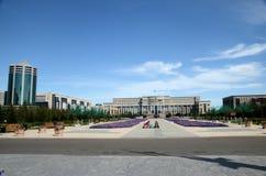 Water Green Boulevard in Astana Stock Photography