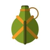 Water green canteen equipment camping vector illustration