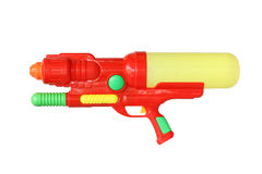 Water gun. With clipping path isolated on white background Royalty Free Stock Photography