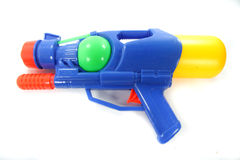 Water gun. Isolated on wahiie background royalty free stock images