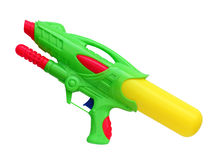 Water gun isolated on white background, (Clipping path) Royalty Free Stock Photos