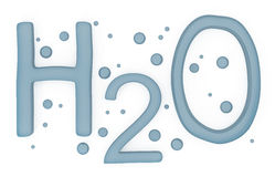 Water H2O Sign isolated on white Royalty Free Stock Photography