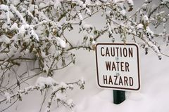 Water Hazard Sign Stock Photos