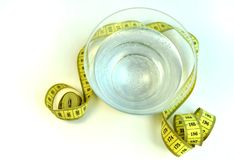 Water healthy food fitness to lose weight royalty free stock images