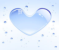 Water heart Royalty Free Stock Photography