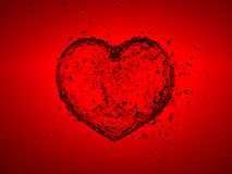 Water heart. Illustration of heart made from water Royalty Free Stock Photos