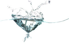 Water heart. Water shaped as a heart Stock Images