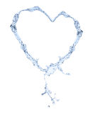 Water heart. Isolated on white background Royalty Free Stock Image